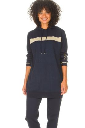 Liu Jo Sport | Tuniek sweater met glitters Jade | blauw