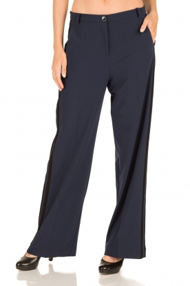 Patrizia Pepe | Flared pantalon Nina | donkerblauw