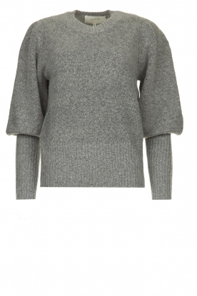 Munthe |  Sweater with balloon sleeves Jab | grey