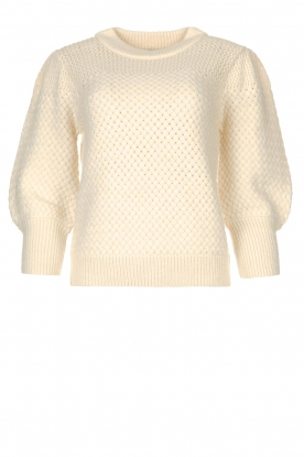 Silvian Heach | Knitted sweater Abesolon | natural