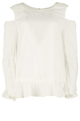 Patrizia Pepe |  Off-shoulder top Marie | white