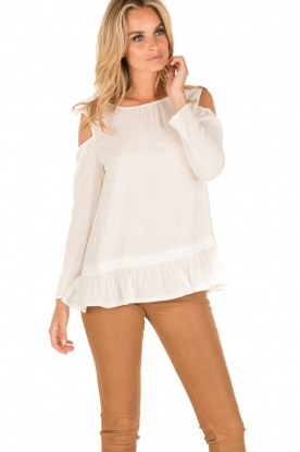 Patrizia Pepe | Off-shoulder top Marie | wit