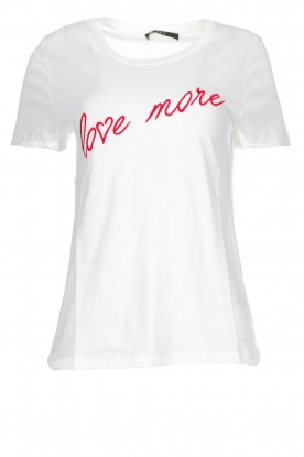 Set | T-shirt met tekst Linn | wit