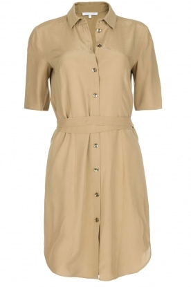 Patrizia Pepe |  100% viscose dress with collar Donna | beige