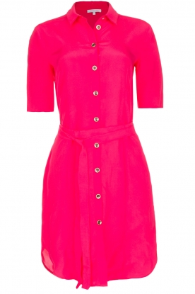 Patrizia Pepe |  100% viscose dress with collar Donna | pink
