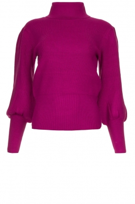 Silvian Heach | Turtleneck sweater with balloon sleeves Safari | pink