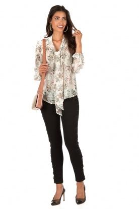 Bow tie blouse Michel | print
