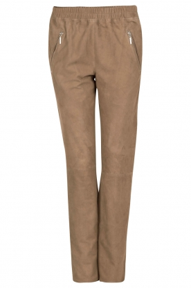 Arma |  Suede pants Merlo | taupe