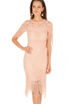 Essentiel Antwerp |  Crochet dress Osseina | pink