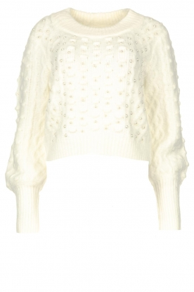 Silvian Heach |  Pearl sweater Adoration | white