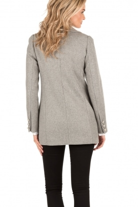 Doublebreasted wool coat Claire | grey