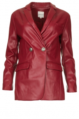 Silvian Heach | Faux leather blazer Blingrine | rood