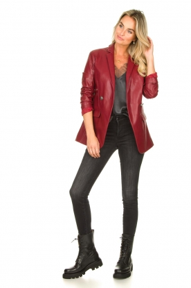 Look Faux leather blazer Blingrine