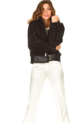 Liu Jo Sport |  Short teddy coat Senna | black