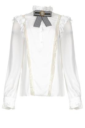 Silvian Heach |  Ruffle blouse Woogie | white