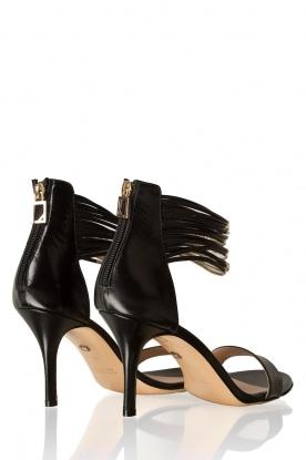 Atos Lombardini | Leren sandalen Scarpa | zwart