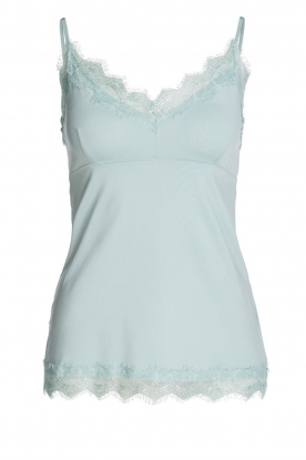 Set |  Sleeveless top with lace Chenna | light blue