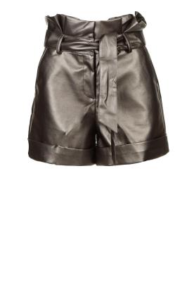 Silvian Heach |  Paperbag shorts Durham | silver