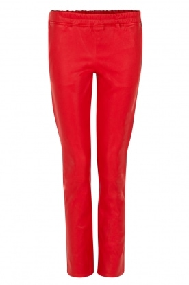 Arma |  Lambs leather stretchlegging Roche | red