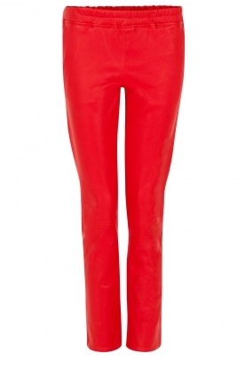 Arma |  Lambs leather stretch pants Roche | red