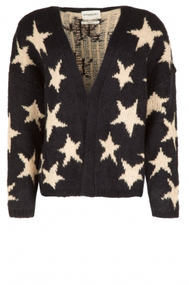 Essentiel Antwerp |  Cardigan Obama Jacquard Stars | black