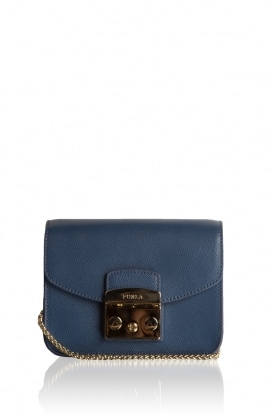Leather shoukderbag Mini Metropolis | blue