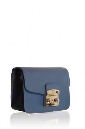Leather shoukderbag Mini Metropolis | blue