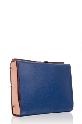 Leather shoulder bag Electra M | blue