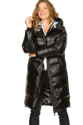 Silvian Heach |  Long down jacket Bull | black