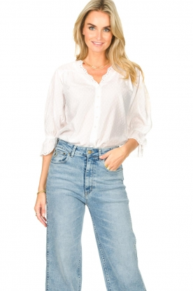 Lolly's Laundry |  Broderie blouse Charlie | white