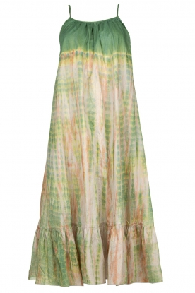 Rabens Saloner |  Tie-dye dress Gunva | green