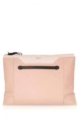 Furla | Leren clutch Pochette Fantasia XL | oud roze