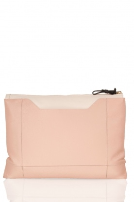 Leather clutch Pochette Fantasia XL | old pink