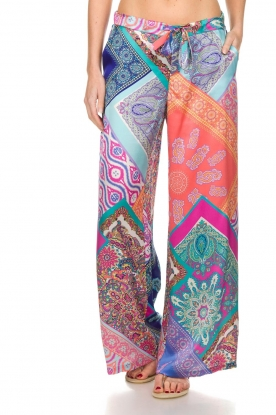 Alice & Trixie |  Silk wide leg trousers with print Uzie | multi