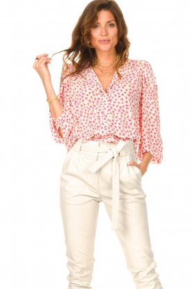 Lolly's Laundry |  Blouse with floral print Frankie | pink