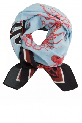 Essentiel Antwerp |  Silk scarf Object | blue
