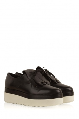 What For | Leren platform derby Arthur | zwart