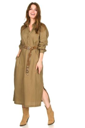 Rabens Saloner | Midi-jurk Meli | groen