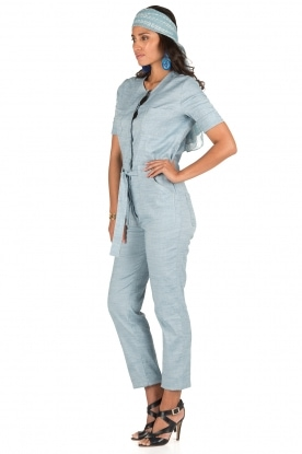 Sessun | Denim jumpsuit Belle | blauw