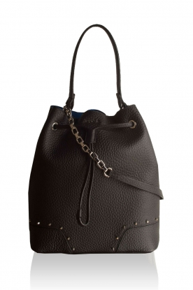 Furla |  Leather bucket bag | black