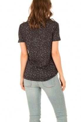 IRO | Linnen T-shirt Trudie | zwart