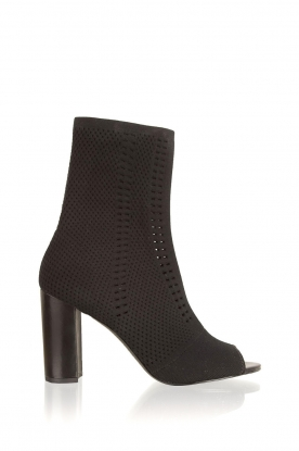 What For |  Peep toes ankle boots Victor | black
