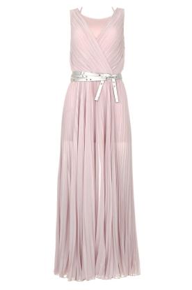 Patrizia Pepe |  Plisse maxi dress Stella | pink