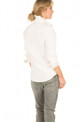 IRO | Denim blouse Batna | wit