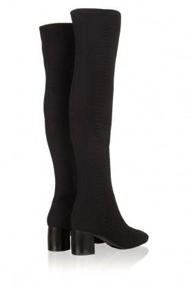 What For | Over-the-knee laars Albana | zwart
