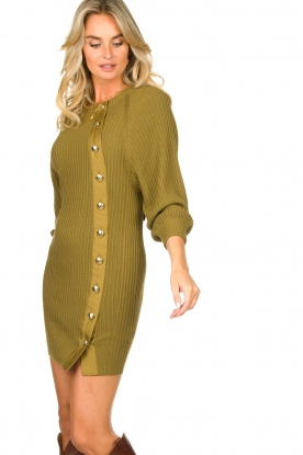 Patrizia Pepe |  Knitted dress with button details Ivy | green