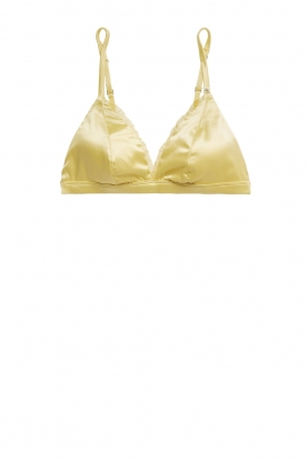 Love Stories |  Satin bralette Darling | yellow