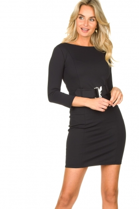 Patrizia Pepe |  Belted dress Colette | black