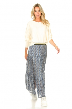 Lolly's Laundry |  Maxi skirt with print Bonny | blue