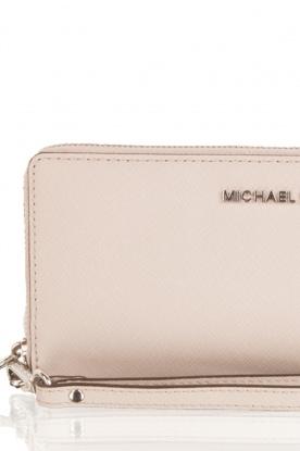MICHAEL Michael Kors | Leren portemonnee Jet Set Travel | grijs